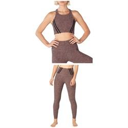 Beyond Yoga Stripe Down Cropped Tank Top + Stripe Down High Waisted Midi Leggings - Women's