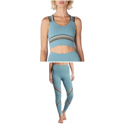 Beyond Yoga Get Your Filament Cropped Tank Top + Get Your Filament High Waisted Long Leggings - Women's