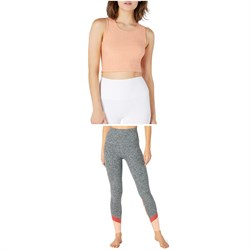 Beyond Yoga Featherweight Top Notch Cropped Tank Top + Spacedye Color In High-Waisted Leggings - Women's