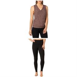 Beyond Yoga All About It Split Back Tank Top + Take Me Higher Leggings - Women's