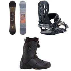 Rome Reverb Rocker SE Snowboard 2018 + 390 Boss Snowboard Bindings 2018 + K2 Maysis Snowboard Boots
