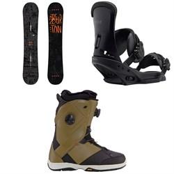 Burton Amplifier Wide Snowboard 2018 + Burton Custom EST Snowboard Bindings  + K2 Maysis Snowboard Boots 2018