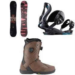 Rossignol Jibsaw Heavy Duty Snowboard 2018 + Rossignol Cobra Snowboard Bindings  + K2 Maysis Snowboard Boots