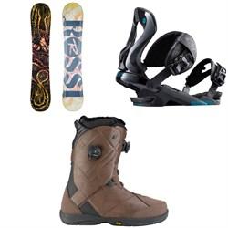 Rossignol Angus Snowboard 2018 + Rossignol Cobra Snowboard Bindings  + K2 Maysis Snowboard Boots