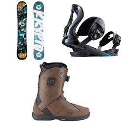 Rossignol Krypto Snowboard 2018 + Rossignol Cobra Snowboard Bindings  + K2 Maysis Snowboard Boots