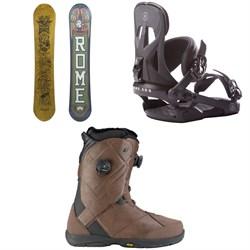 Rome Crossrocket Snowboard 2018 + Arsenal Snowboard Bindings 2018 + K2 Maysis Snowboard Boots