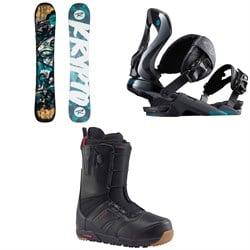 Rossignol Krypto Snowboard 2018 + Cobra Snowboard Bindings  + Burton Ruler Snowboard Boots 2018
