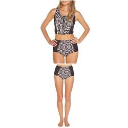 Amuse Society Lekeni Crop Wetsuit Vest - Women's + Amuse Society Anakalia High Rise Wetsuit Bottoms - Women's