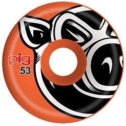 Pig Pig Head Conical Orange 101A Skateboard Wheels