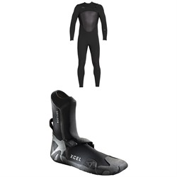 XCEL 4​/3 Axis X Wetsuit ​+ XCEL 3mm Drylock Celliant Round Toe Boots