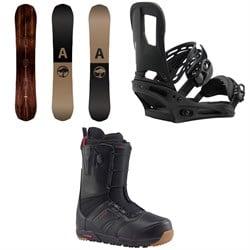 Arbor Element Snowboard  + Burton Cartel Snowboard Bindings  + Ruler Snowboard Boots 2018