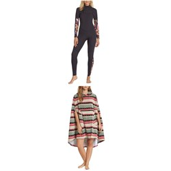 Billabong Salty Dayz Fullsuit 3/2 Wetsuit - Women's + Billabong Hooded Poncho Towel - Women's