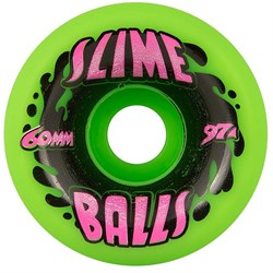Santa Cruz Slime Balls 97a Splat Neon Green Skateboard Wheels