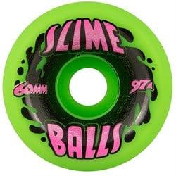 Santa Cruz Slime Balls 97a Splat Neon Green Skateboard Wheels