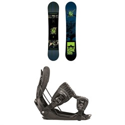 Rome Factory Rocker Snowboard ​+ Flow Five Fusion Snowboard Bindings