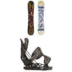 Rossignol Angus Snowboard + Flow NX2 Fusion Snowboard Bindings