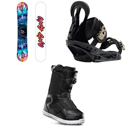 GNU Asym Velvet C2 Snowboard - Blem + Burton Citizen Snowboard Bindings + thirtytwo Shifty Boa Snowboard Boots - Women's