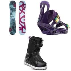 Rossignol Meraki Snowboard - Women's + Burton Citizen Snowboard Bindings - Women's + thirtytwo Shifty Boa Snowboard Boots - Women's 2019