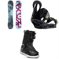 Rossignol Meraki Snowboard - Women's ​+ Burton Citizen Snowboard Bindings - Women's ​+ thirtytwo Shifty Boa Snowboard Boots - Women's