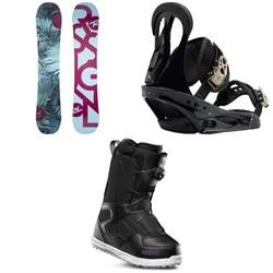 Rossignol Meraki Snowboard - Women's + Burton Citizen Snowboard Bindings - Women's + thirtytwo Shifty Boa Snowboard Boots - Women's