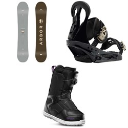 Arbor Ethos Snowboard - Women's ​+ Burton Citizen Snowboard Bindings - Women's ​+ thirtytwo Shifty Boa Snowboard Boots - Women's