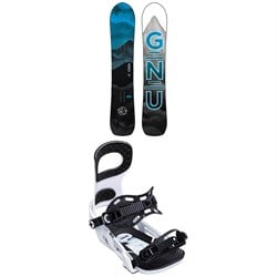 GNU Antigravity C3 Snowboard ​+ Bent Metal Joint Snowboard Bindings 2020