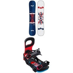 GNU FB Head Space Asym C3 Snowboard ​+ Bent Metal Joint Snowboard Bindings