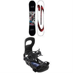 GNU Carbon Credit Asym BTX Snowboard ​+ Bent Metal Joint Snowboard Bindings 2020