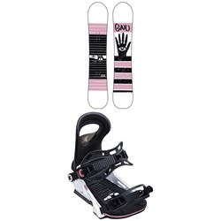 GNU Gloss C2 Snowboard - Women's ​+ Bent Metal Upshot Snowboard Bindings - Women's