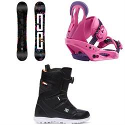 DC Biddy Snowboard - Women's + Burton Citizen Snowboard Bindings - Women's + DC Search Boa Snowboard Boots - Women's 2019