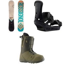 Rossignol Templar Snowboard + Burton Custom Snowboard Bindings + Burton Moto Snowboard Boots 2019