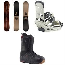 Arbor Element Snowboard  + Burton Mission Snowboard Bindings  + Burton Ruler Snowboard Boots 2018