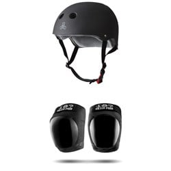 Triple 8 The Certified Sweatsaver Skateboard Helmet ​+ 187 Pro Skateboard Knee Pads