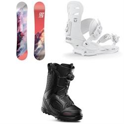 CAPiTA Paradise Snowboard - Women's + Union Rosa Snowboard Bindings - Women's + thirtytwo STW Boa Snowboard Boots - Women's 2020