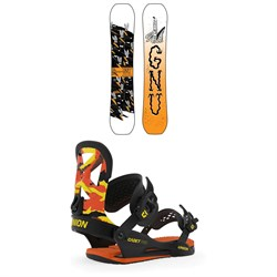 GNU Young Money C2E Snowboard - Boys' ​+ Union Cadet Pro Snowboard Bindings - Kids' 2020