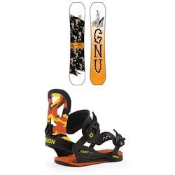 GNU Young Money C2E Snowboard - Boys' + Union Cadet Pro Snowboard Bindings - Kids' 2020