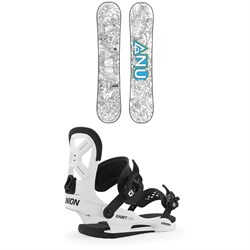 GNU Recess Asym BTX Snowboard - Big Kids' ​+ Union Cadet Pro Snowboard Bindings - Kids' 2020
