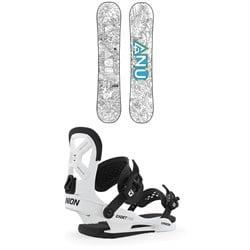 GNU Recess Asym BTX Snowboard - Big Kids' + Union Cadet Pro Snowboard Bindings - Kids' 2020