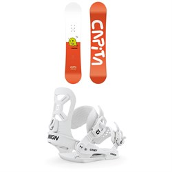 CAPiTA Micro Mini Snowboard - Little Boys' + Union Cadet XS Snowboard Bindings - Little Kids' 2020