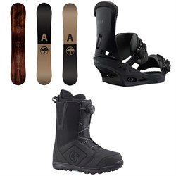 Arbor Element Snowboard  + Burton Custom Snowboard Bindings  + Moto Boa Snowboard Boots 2018