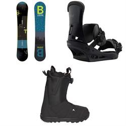 Burton Ripcord Snowboard  + Custom Snowboard Bindings  + Moto Boa R Snowboard Boots 2018