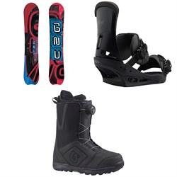 GNU Hyak BTX Snowboard  + Burton Custom Snowboard Bindings  + Burton Moto Boa Snowboard Boots 2018