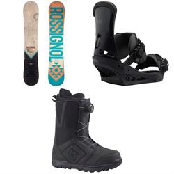 Rossignol Templar Snowboard 2019 + Burton Custom Snowboard Bindings 2019 + Burton Moto Boa Snowboard Boots 2018