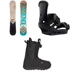 Rossignol Templar Snowboard  + Burton Custom Snowboard Bindings  + Moto Boa R Snowboard Boots 2018
