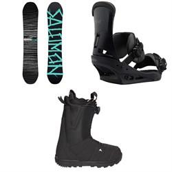 Salomon Craft X Snowboard  + Burton Custom Snowboard Bindings  + Burton Moto Boa R Snowboard Boots 2018