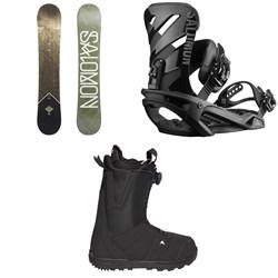 Salomon Sight X Snowboard  + Salomon Rhythm Snowboard Bindings  + Burton Moto Boa R Snowboard Boots 2018