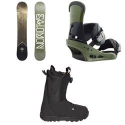 Salomon Sight X Snowboard  + Burton Custom Snowboard Bindings 2018 + Burton Moto Boa R Snowboard Boots 2018