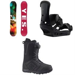 Yes. Libre Snowboard  + Burton Custom Snowboard Bindings 2018 + Burton Moto Boa Snowboard Boots 2018