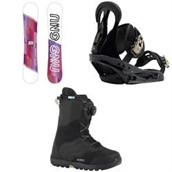 GNU B-Nice Asym BTX Snowboard - Women's  + Burton Citizen Snowboard Bindings - Women's  + Mint Boa Snowboard Boots - Women's 2018