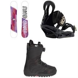GNU B-Nice Asym BTX Snowboard  + Burton Citizen Snowboard Bindings  + Mint Boa R Snowboard Boots - Women's 2018